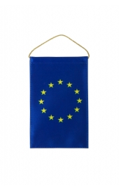 EU flag coat of arms car rearview mirror