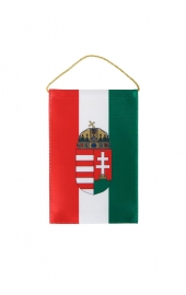 Hungarian flag coat of arms car rearview mirror