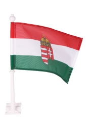 Hungary Flag with coat of Arms Car flag