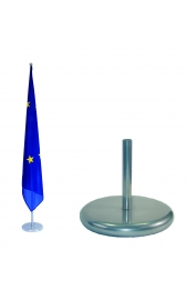 Indoor flag holder silver, matte, 1 flag pole