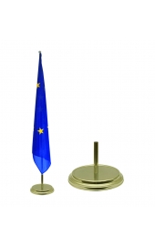 Indoor gold flag holder shiny 1 flag pole