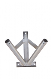 Galvanized 2 flag holder