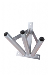Galvanized 3 flag holder