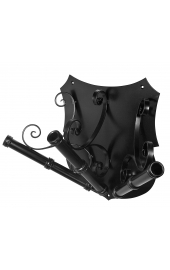Premium wrought iron flagholder with three arm