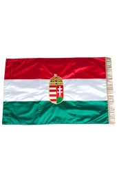 Embroidered coat of arms Hungary flag
