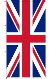 Karabined standing Briten flag wind rotating