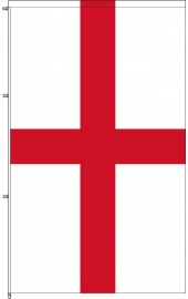 Karabined standing England flag wind rotating