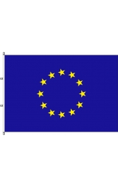 Carabined horizontal EU flag