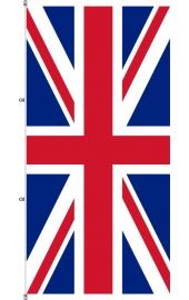 Karabined standing Briten flag