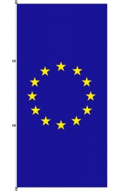 Carabined standing EU flag
