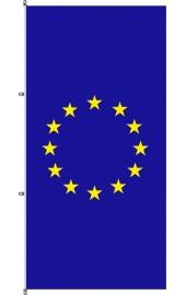 Carabined standing EU flag