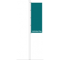 Ground based flagpole individual